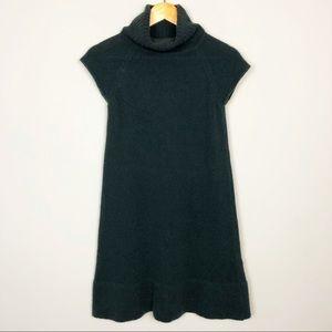 Zara | Wool Blend Cowl Neck Sleeveless Knit Dress